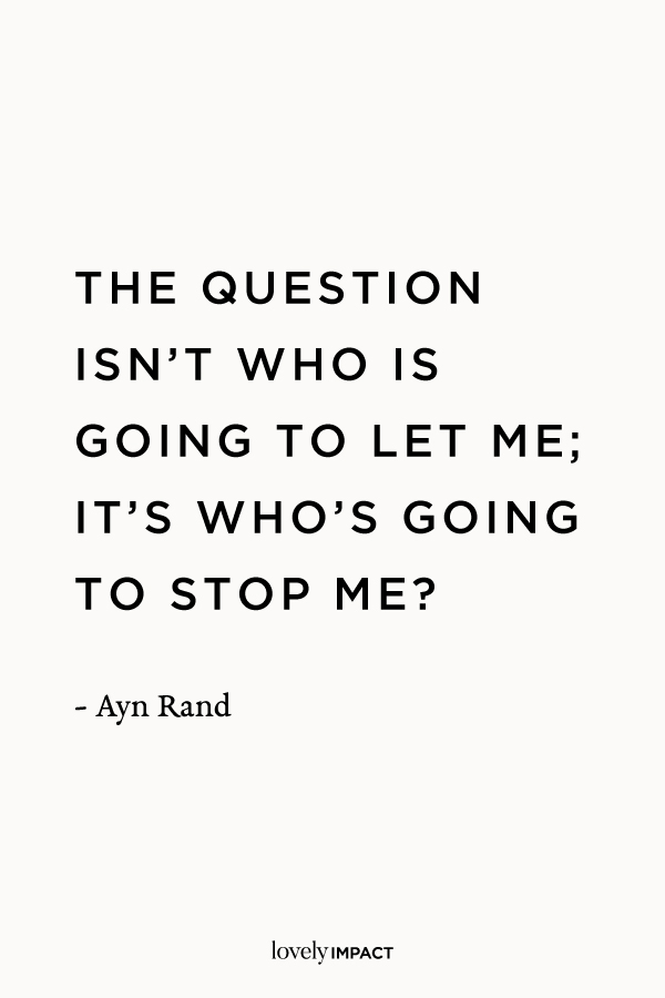 Ayn Rand Business Motivation Quote