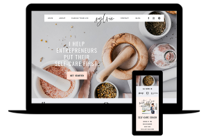 Showit website template for health coach - Sylvia by lovely impact