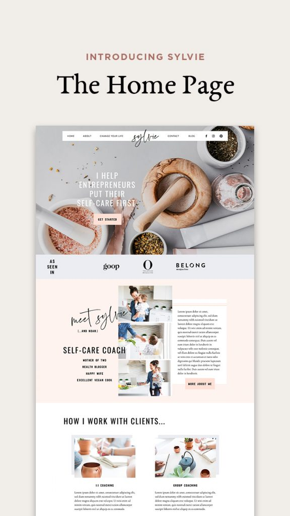 Introducing Sylvie - Showit website template for health coaches (INSTA) (1)