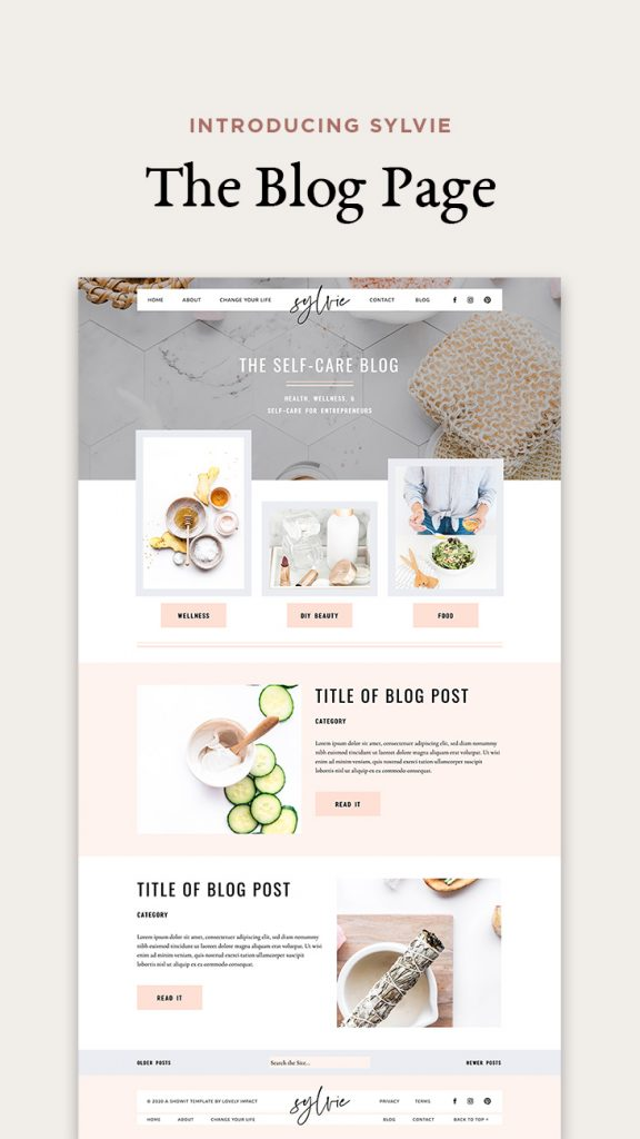 Introducing Sylvie - Showit website template for health coaches (INSTA) (3)