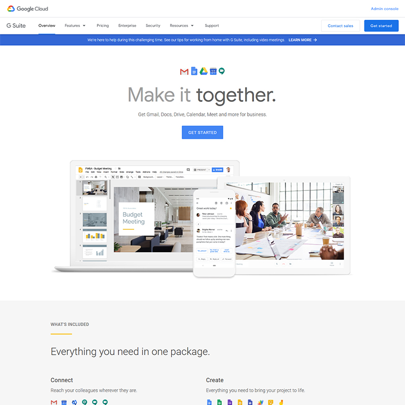 G Suite Collaboration Productivity Apps for Business