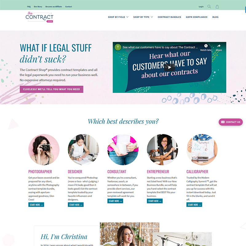The Contract Shop® Legal Contract Templates for Entrepreneurs