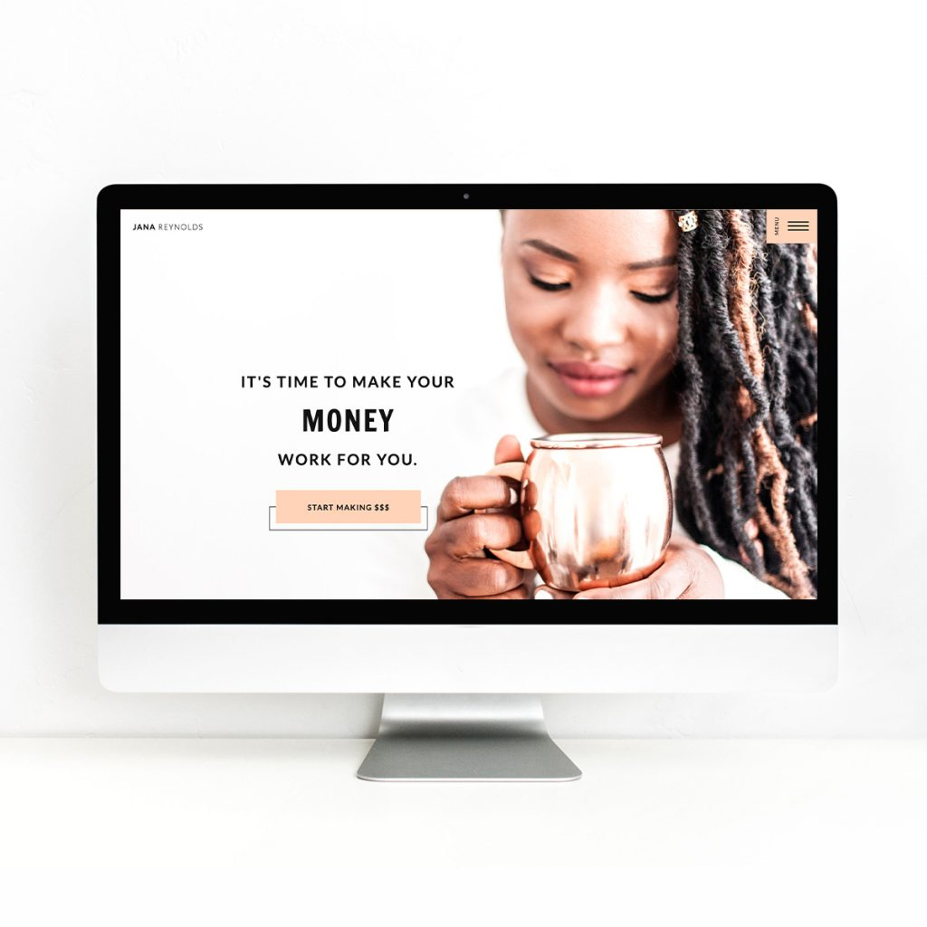Introducing Jana! A Showit Website Template for Finance Coaches
