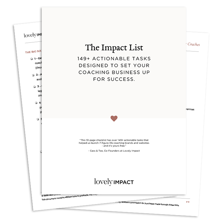THE ULTIMATE LIFE COACHING BIZ AUDIT CHECKLIST