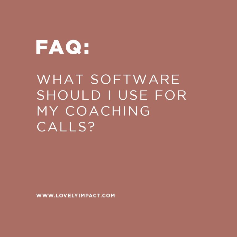What software should I use for my coaching calls?