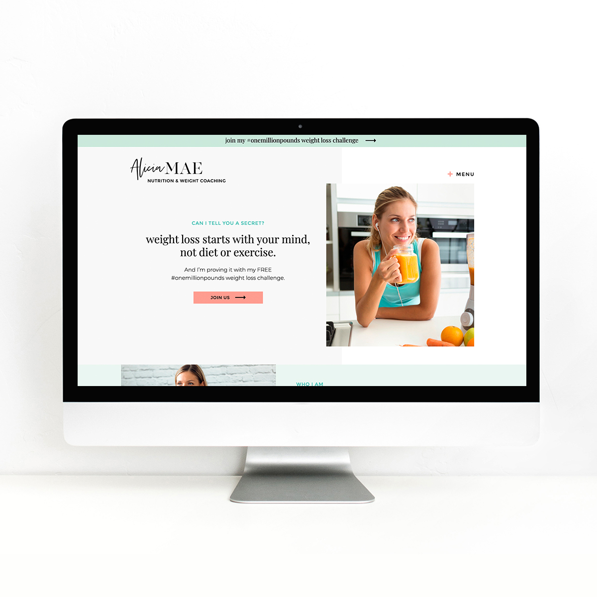 Alicia Showit Website Templates for Weight Loss Coaches