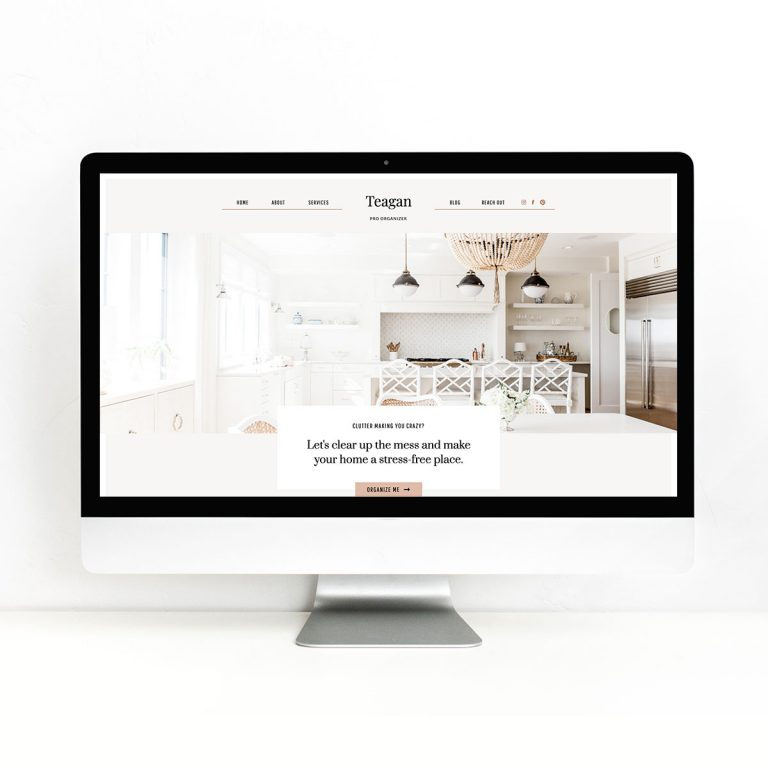 Introducing Teagan! A Showit Website Template for Professional Organizers