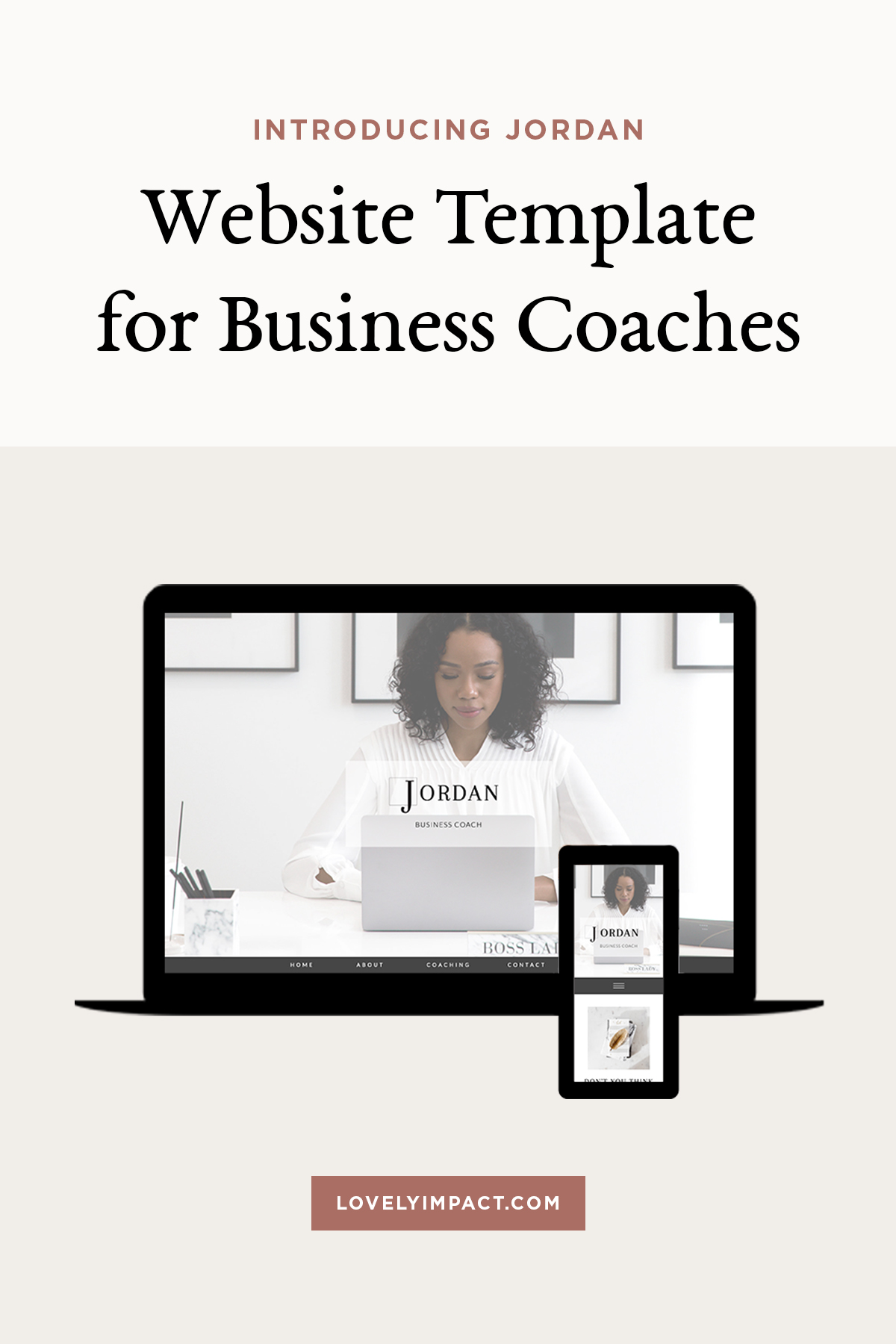 Introducing Jordan! A Showit Website Template for Business Coaches