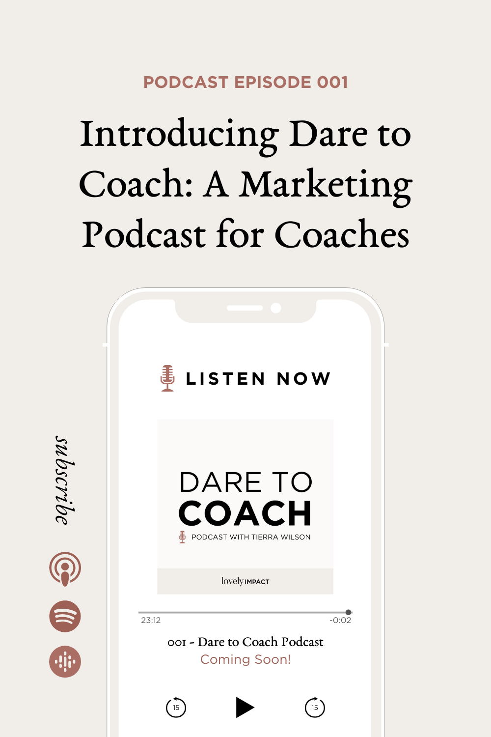 Introducing Dare to Coach! A Marketing Podcast for Coaches