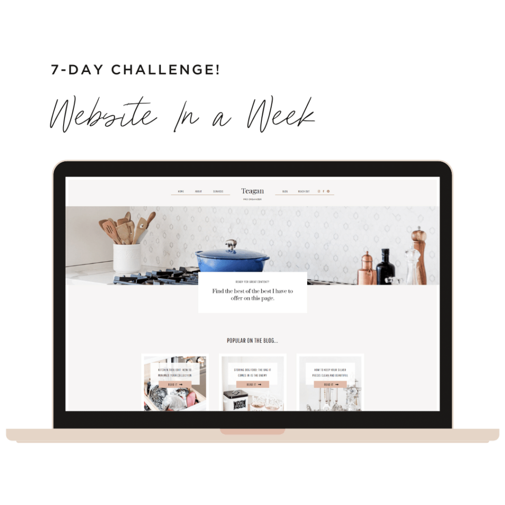 Launch Your Professional Organizer Website Template in One Week