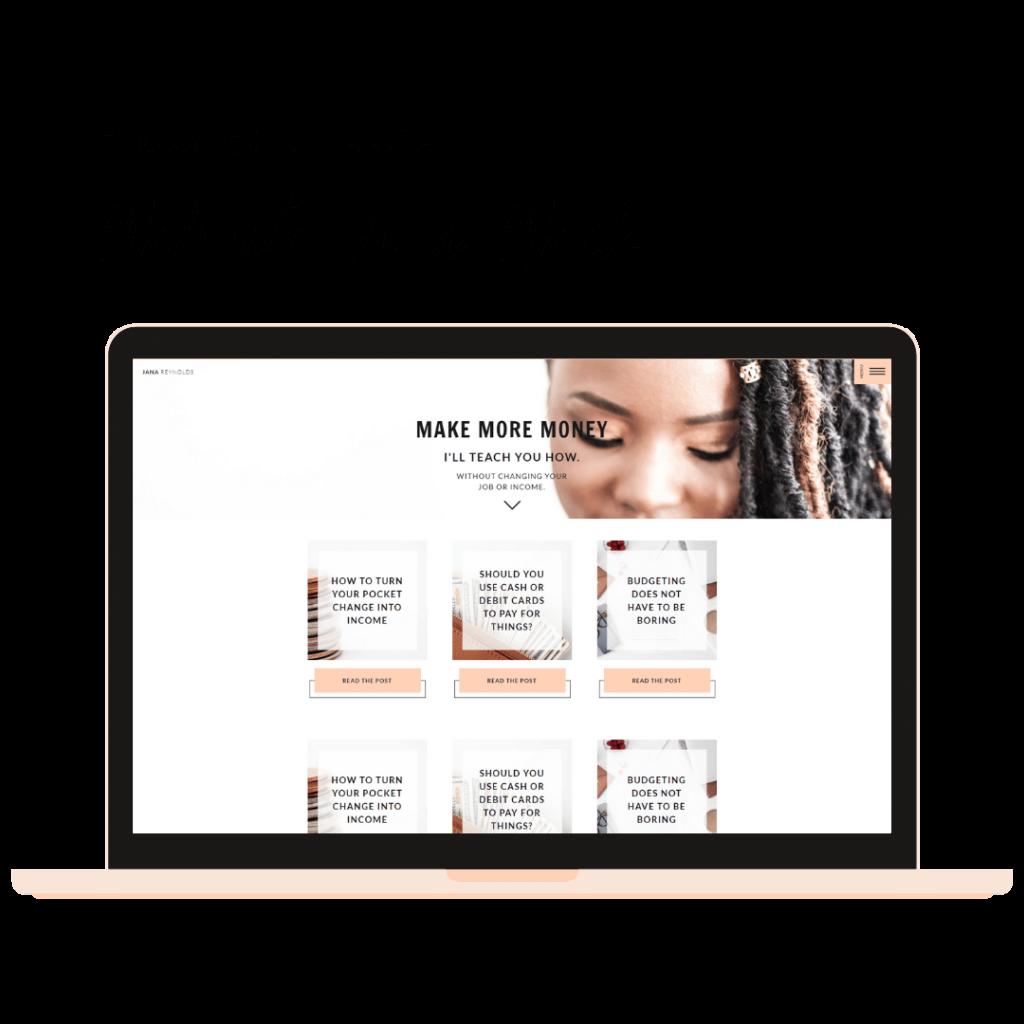 Launch Your Financial Coaching Website Template in 1 Week