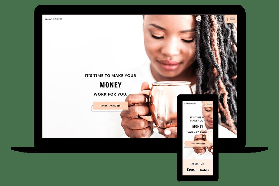 Financial Coaching Website Template