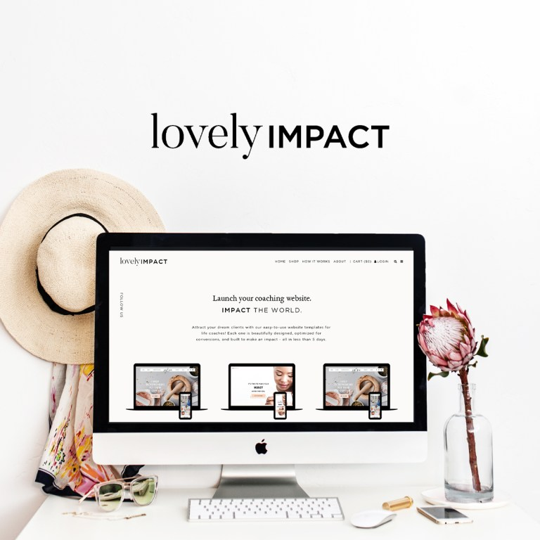 Homepage of Websites for coaches by Lovely Impact