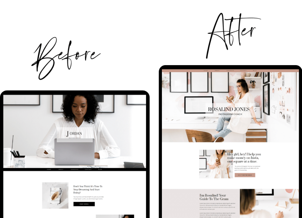 Restyled Business Coaching Website Template