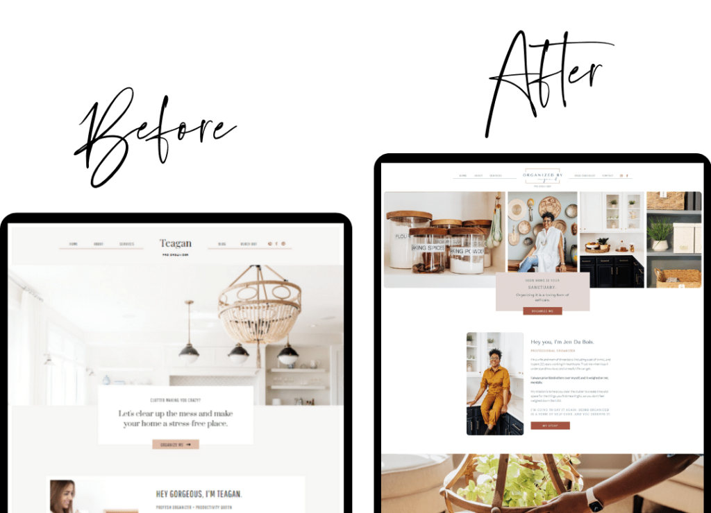 Restyled Professional Organizer Website Template